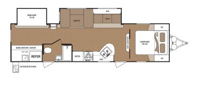 2019 Dutchmen Aspen Trail 3010BHDS floorplan