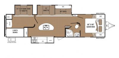 2019 Dutchmen Aspen Trail 3100BHS floorplan