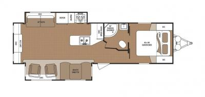 2019 Dutchmen Aspen Trail 3150REDS floorplan