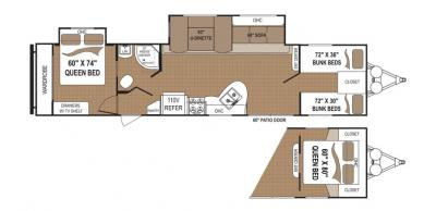 2019 Dutchmen Aspen Trail 3600QBDS floorplan