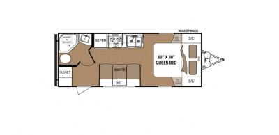 2019 Dutchmen Aspen Trail 1900RBWE floorplan