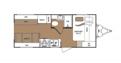 2019 Dutchmen Aspen Trail 1930RDWE floorplan