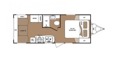 2019 Dutchmen Aspen Trail 2050QBWE floorplan