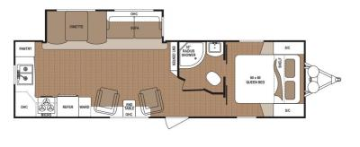 2019 Dutchmen Aspen Trail 2870RKSWE floorplan