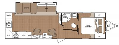 2019 Dutchmen Aspen Trail 2870RKS floorplan