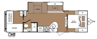2019 Dutchmen Aspen Trail 2910BHS floorplan