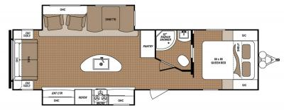 2019 Dutchmen Aspen Trail 3070RLS floorplan
