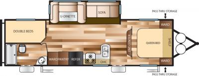 2018 Forest River Salem Cruise Lite T263BHXL floorplan