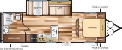 2018 Forest River Salem Cruise Lite T272RBXL floorplan