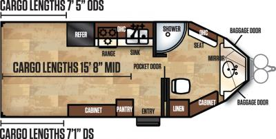 2018 Forest River Work and Play 21VFB floorplan