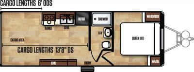 2018 Forest River Work and Play 25WAB floorplan