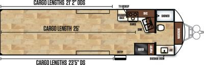 2018 Forest River Work and Play 30FBW floorplan