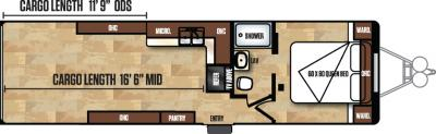 2018 Forest River Work and Play 30WCR floorplan