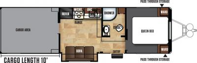 2018 Forest River Work and Play 30WRS floorplan