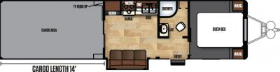 2018 Forest River Work and Play 34WRS floorplan