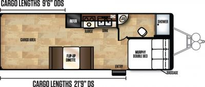 2018 Forest River Work and Play 24UC floorplan
