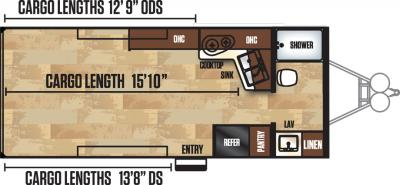 2018 Forest River Work and Play 21SE floorplan