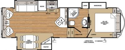 2018 Forest River Sandpiper 2850RL floorplan