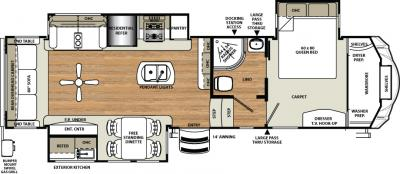 2018 Forest River Sandpiper 343RSOK floorplan