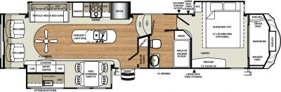 2018 Forest River Sandpiper 360PDEK floorplan