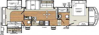 2018 Forest River Sandpiper 365SAQB floorplan