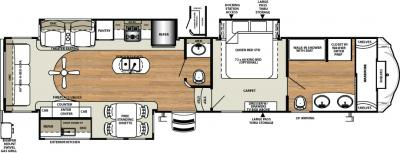 2018 Forest River Sandpiper 378FB floorplan