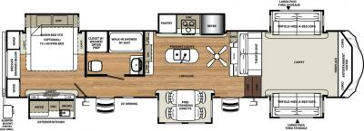 2018 Forest River Sandpiper 379FLOK floorplan
