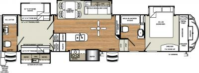 2018 Forest River Sandpiper 381RBOK floorplan