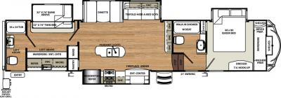 2018 Forest River Sandpiper 383RBLOK floorplan