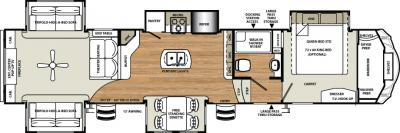 2018 Forest River Sandpiper 389RD floorplan