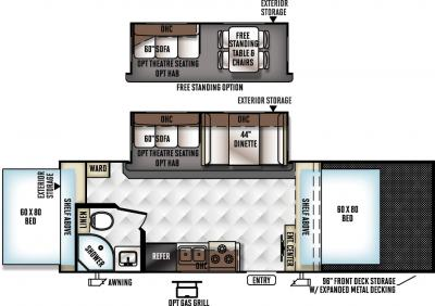 2018 Forest River Rockwood Roo 21SSL floorplan