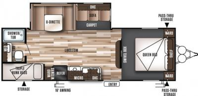 2019 Forest River Wildwood 26TBSS floorplan