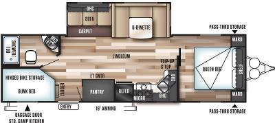 2019 Forest River Wildwood 27DBK floorplan