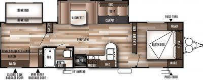 2018 Forest River Wildwood 28CKDS floorplan