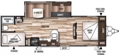 2018 Forest River Wildwood 28DBUD floorplan