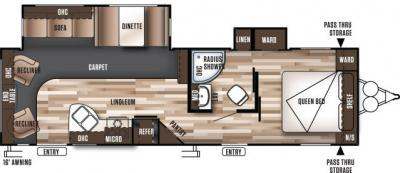 2018 Forest River Wildwood 28RLDS floorplan