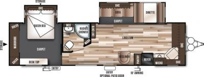 2019 Forest River Wildwood 29FKBS floorplan