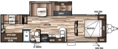 2019 Forest River Wildwood 30KQBSS floorplan