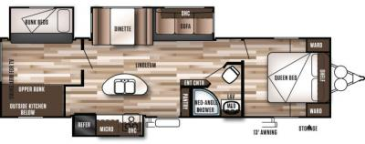 2018 Forest River Wildwood 31BKIS floorplan
