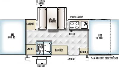 2018 Forest River Flagstaff Sports 23SCSE floorplan