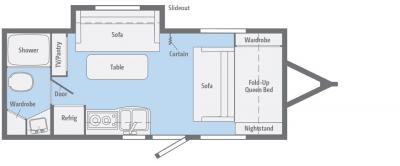 2018 Winnebago Micro Minnie 2106DS floorplan