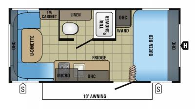 2018 Jayco Jay Flight SLX 175RD floorplan