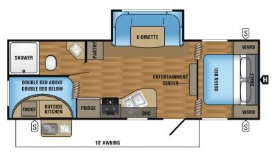 2018 Jayco Jay Flight SLX 242BHSW floorplan