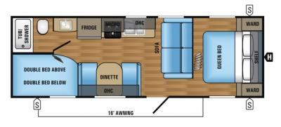2018 Jayco Jay Flight SLX 264BHW floorplan