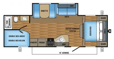 2018 Jayco Jay Flight SLX 267BHSW floorplan