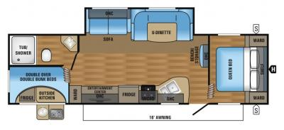 2018 Jayco Jay Flight SLX 284BHSW floorplan