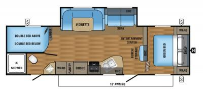 2018 Jayco Jay Flight SLX 287BHSW floorplan