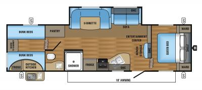 2018 Jayco Jay Flight SLX 294QBSW floorplan