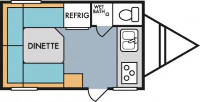 2019 Riverside RV Retro 157 floorplan