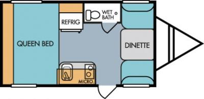 2019 Riverside RV Retro 166 floorplan